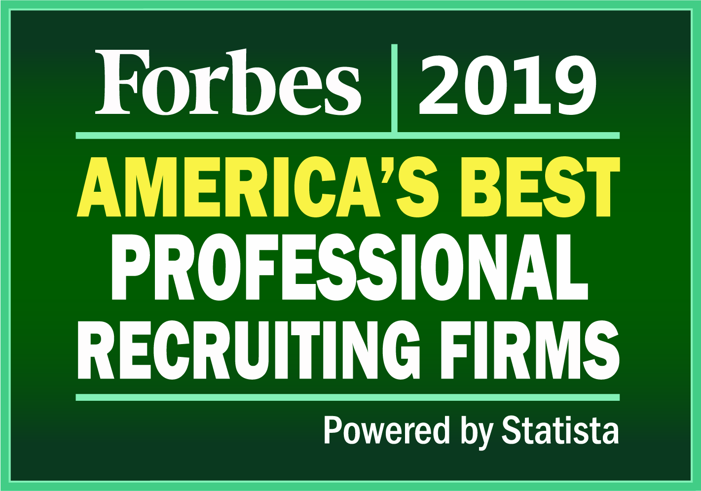 Forbes Best Professional Recruiting Firms 2019